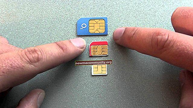 Mini-SIM, Micro-SIM dan Nano-SIM: bagaimana perbezaannya?