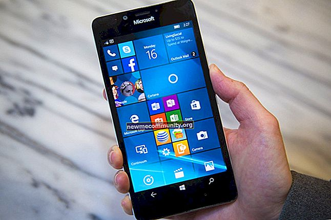 Ponsel cerdas di Windows 10 2017